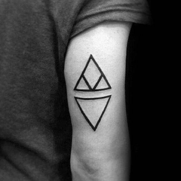 Cool Tricep Triangles Small Minimalist Tattoos For Men Tattoos For Guys Minimalist Tattoo Tattoo Designs Men