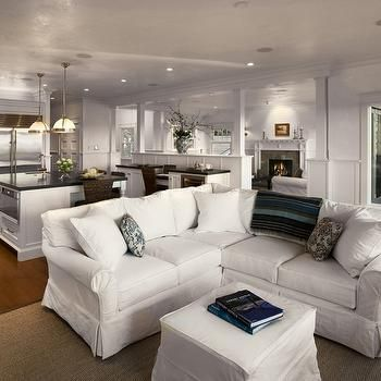 White Slipcovered Sectional Sofa   Design Photos, Ideas And Inspiration.  Amazing Gallery Of Interior Design And Decorating Ideas Of White  Slipcovered ...