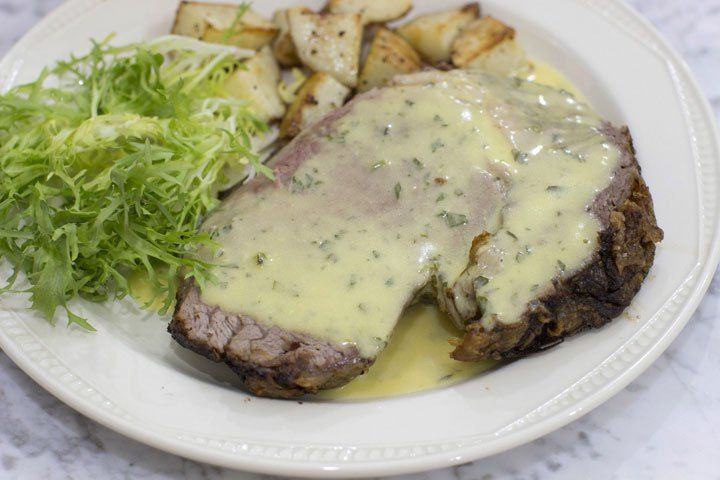 Recipe: Slow-roasted rib roast with bearnaise sauce