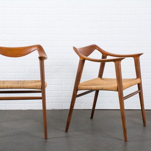 Pair Of Bambi Chairs By Rolf Rastad U0026Adolf Relling For Gustav Bahus $3500  #vintage #