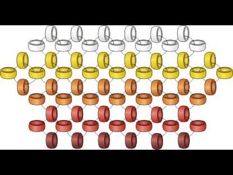 This beading cartoon shows three ways of one needle Right Angle Weaving with increasing and decreasing rows. The left-handed version of this cartoon is here:...