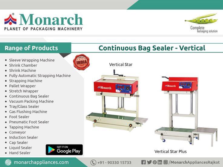 #ContinuousBagSealer #Vertical #Monarch #packaging #machinery #Ahmadabad #Surat #Rajkot #Metoda #MonarchAppliances