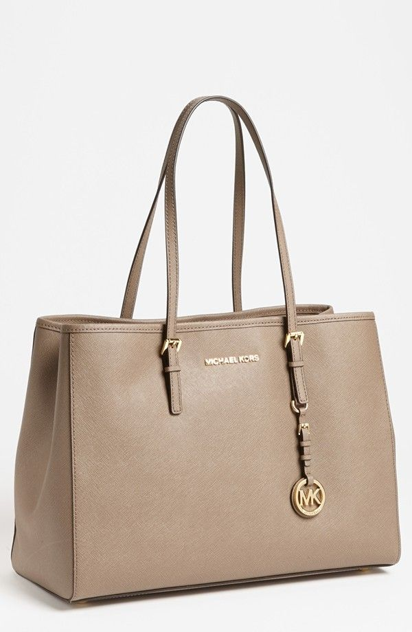 Michael Kors Jet Set Large Travel Tote Dark Dune 278 Love That Style In 2018 Pinterest Fashion And Handbags