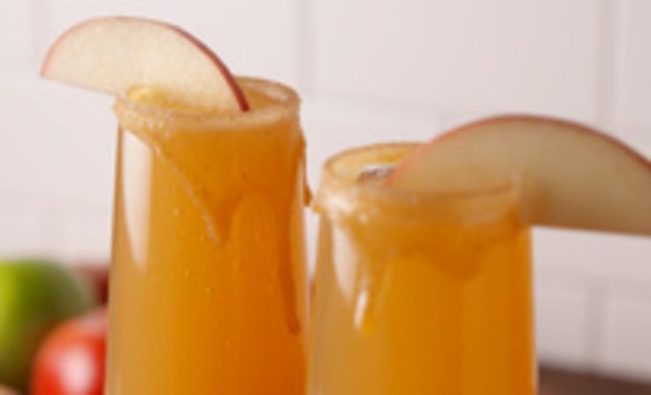 Caramel Apple Mimosas are the new apple cider mimosas.