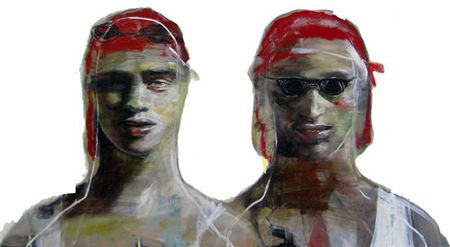 Esther Erlich  On Guard - 2013   Acrylic on canvas  56 x 102 cm