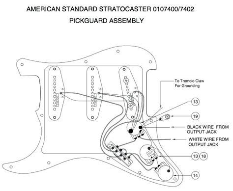 fender american standard precision bass wiring diagram