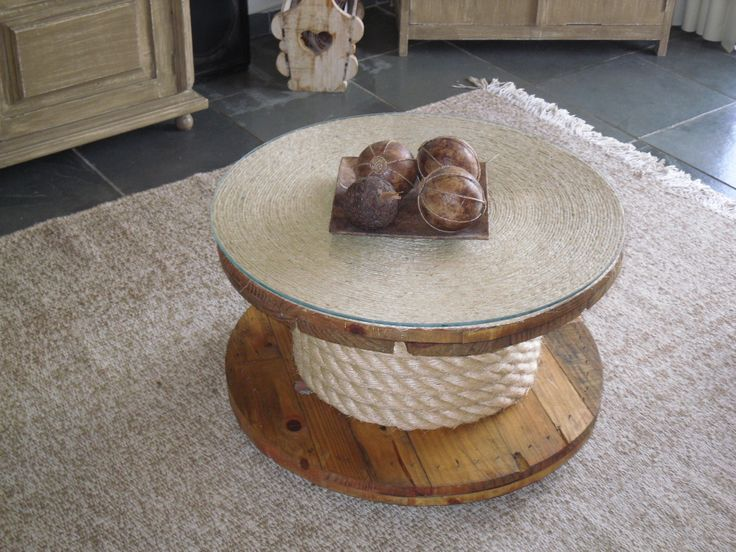 decoração com bobina de madeira - Pesquisa Google