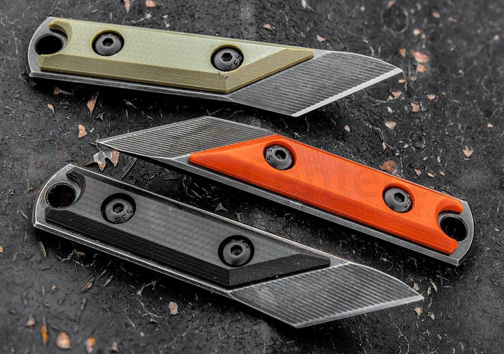 "Nick Chuprin Custom EDC Kiridashi Fixed 1"" O-1 Tool Steel Tanto Blade, Black G10 Handle, Kydex Sheath - KnifeCenter"