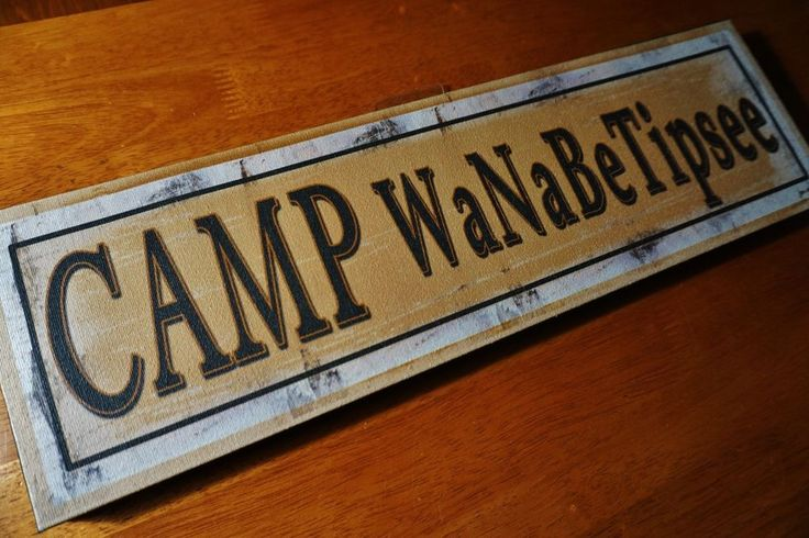 CAMP WANABETIPSEE Funny Camping Beer Par Pub Cabin Lodge Man Cave Decor Sign NEW #OhioWholesale #RusticPrimitive