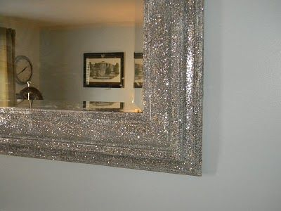 I love this mirror... its covered in glitter.
