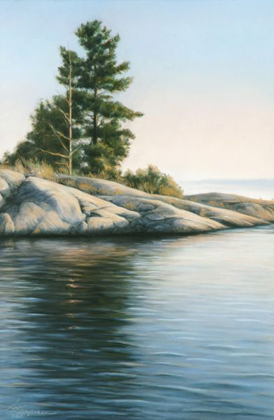 "Susan Lampinen, Sudbury, Ontario Artist Last Light Pastel on sandpaper 10 1/2"" x 15 ½"" Giclée Reproductions available, signed and numbered"