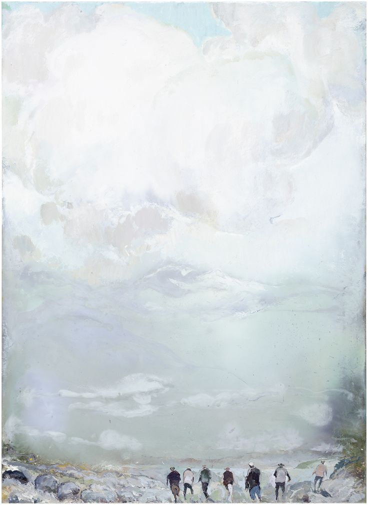 Tuomo Saali, Piece of Heaven, oil on canvas, 2017, 82x60cm