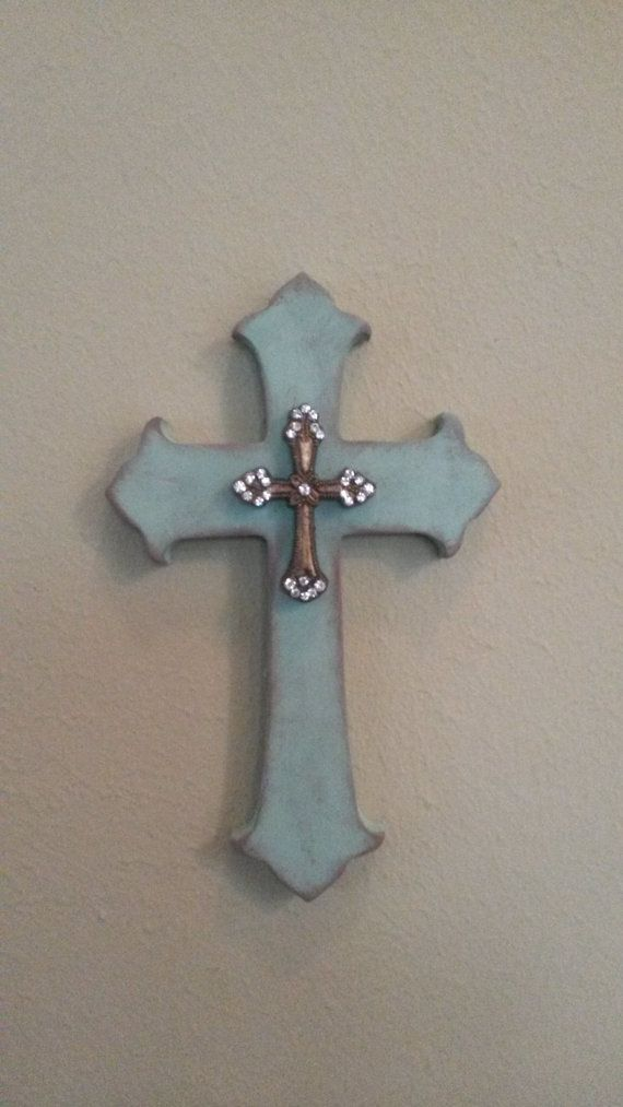 Gold Cross Wall Decor : Images about cross on burlap wood