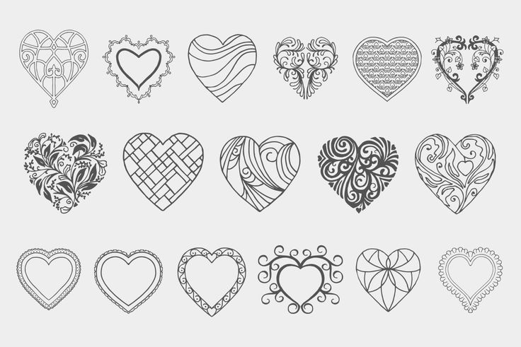 Decorative Heart Vectors Volume 1   Design Panoply