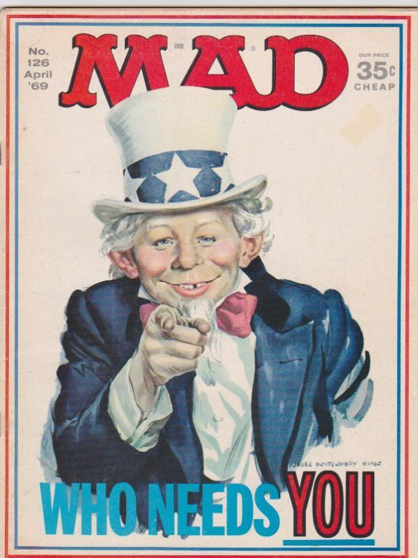 An item from the personal collection of BRATMix (Issue #126): April 1969, Mad Magazines Covers, Mad Mad, Comic Books, Issues 126, Artsy Stuff, Mad 126, Famous Redheads, Fashion Magazines