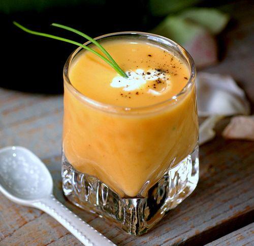 summer apricot soup amuse bouche