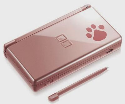 Nintendo DS Lite Metallic Rose Nintendogs with Charger