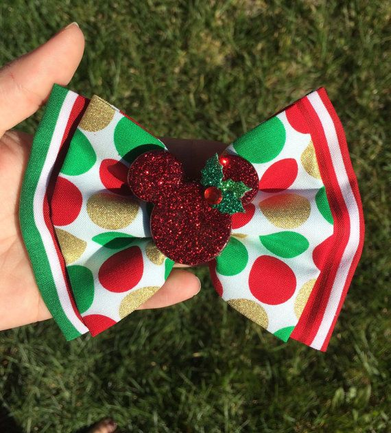 This Christmas Minnie Bow add the Perfect Touch of Sparkle