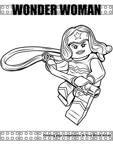Coloring Page Wonder Woman Lego Coloring Batman Coloring Pages