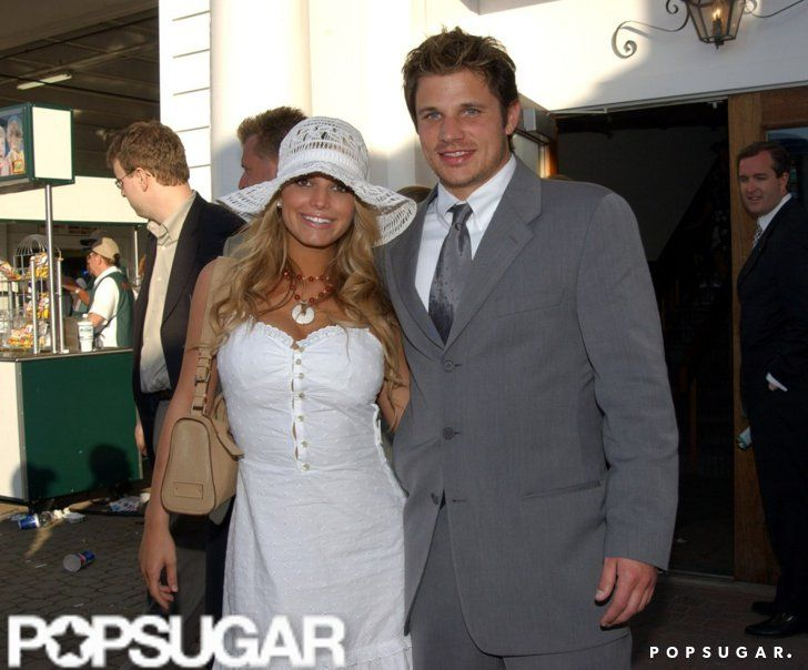 Pin for Later: Hats, Horses, and High Stakes — Stars at the Kentucky Derby!  Nick Lachey and Jessica Simpson attended the 2001 Kentucky Derby together.