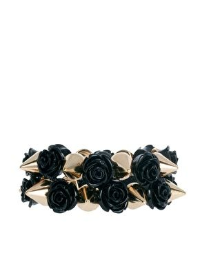 ASOS Pack of Two Rose Spike Stretch Bracelets