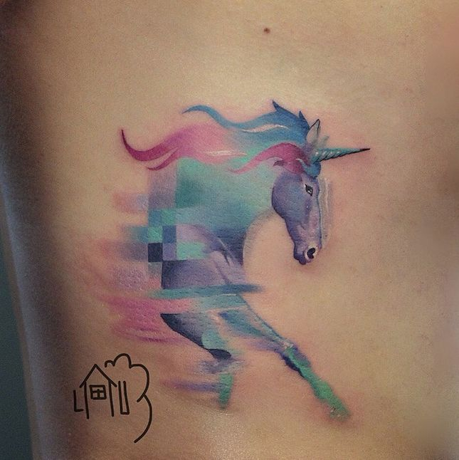 This unicorn tatt is magical.