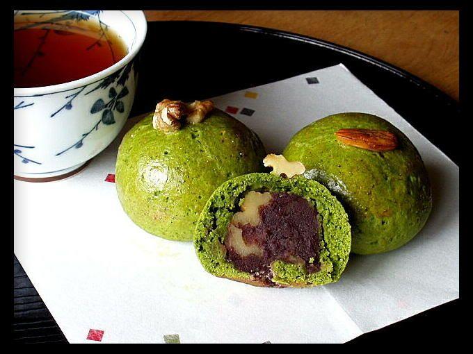 Matcha Nuts Manjyu (House Matcha)