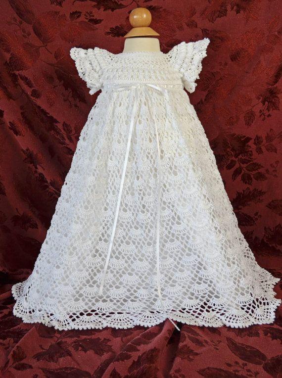 Blanc de baptême / bénédiction robe avec Slip  3 à 6 mois