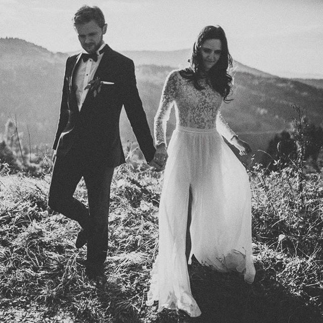 Mr & Mrs ❤️ @nikolabaron #celebratelove #wedding #weddingdress #etherealbride #romantic #romanticbride #fashiondesigner #bridalfashion