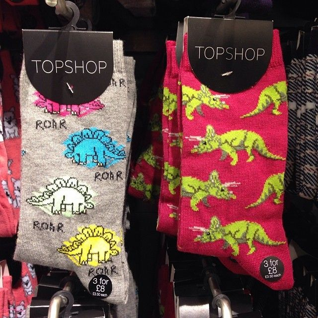 Roar! These bright dino socks need no filter. Gimmie!