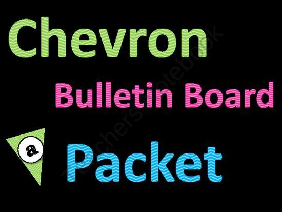 Chevron Bulletin Board Packet from Teaching With Ms Mel on TeachersNotebook.com (143 pages)