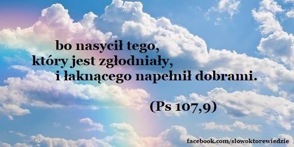 Słowo, które wiedzie: Ps 107,9