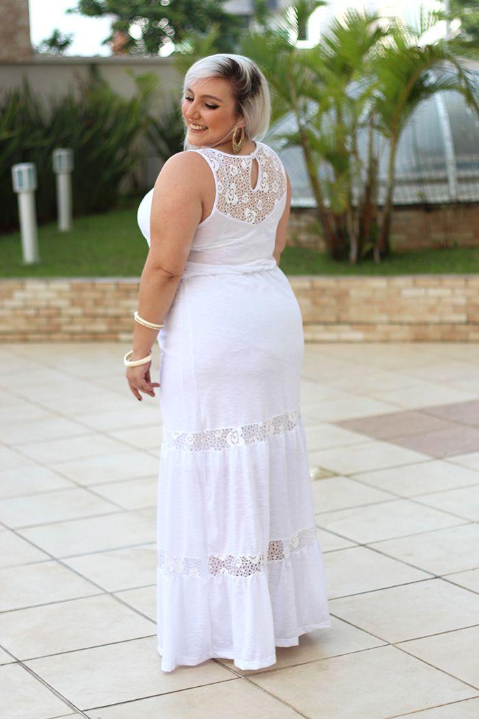 looks de reveillon vestido branco longo costas