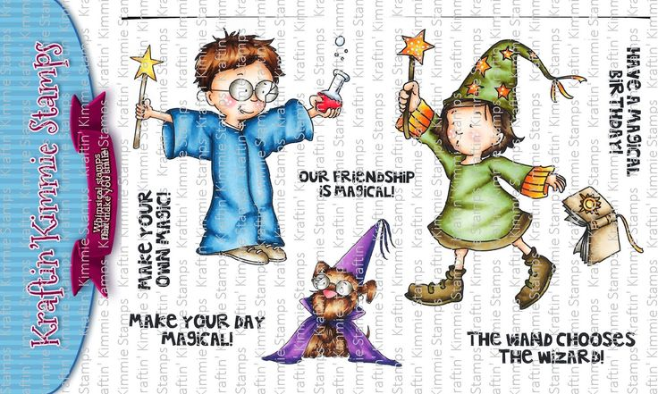Make Your Own Magic clear stamp set from www.kraftinkimmiestamps.com