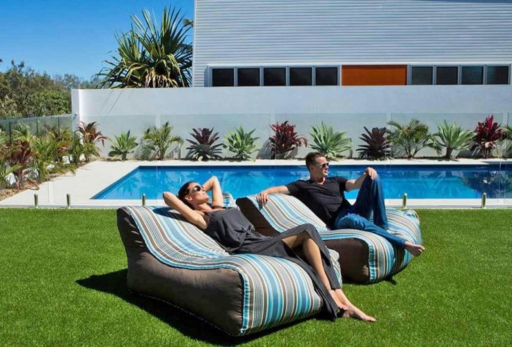 Placed in your outdoor setting, these lounger beanbag chairs will provide an enticing place to sit that supports your body and provides deep relaxation at the same time