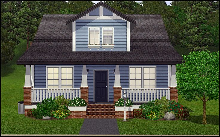 The bluebird sims 3 lots pinterest sims house house for Small starter homes