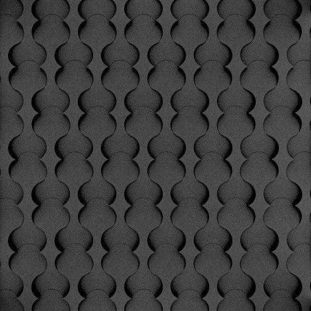 Fluffo, Fabryka Miękkich Ścian. Miękkie panele ścienne 3D, wzór TWIST, opcje ułożenia.