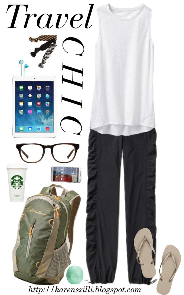 Travel Chic featuring Athleta #airport #style