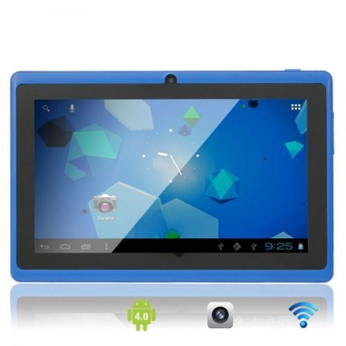 """7"""" Capacitive Touch Screen A13 Android 4.0 8GB Tablet PC with Front Camera Blue #Tablet $75.65"""