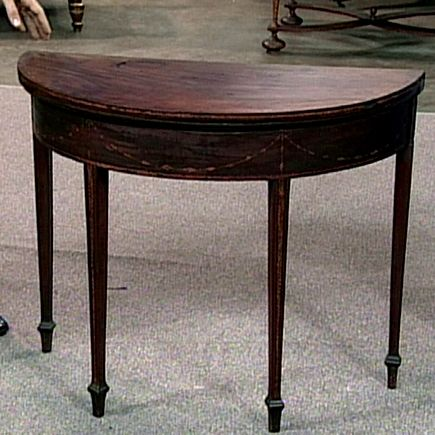 Seymour Card Table, Ca. 1794 On Antiques Roadshow $400,000 $600,000. Lady  Bought