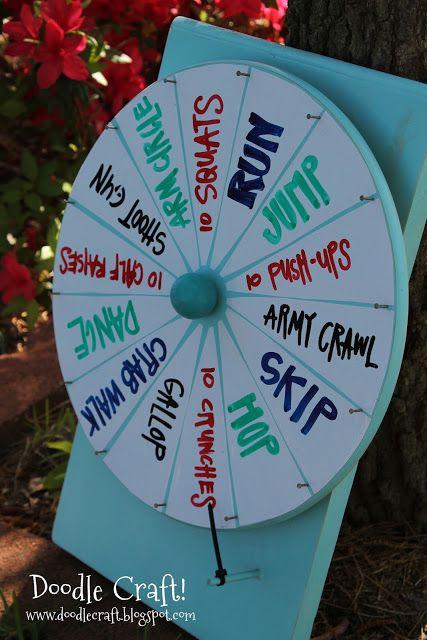 Doodle Craft...: Super Spinning Prize Wheel DIY!