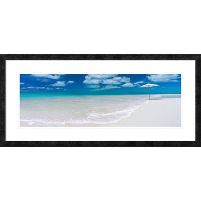 Global Gallery 'Tropical beach in Cayo Largo, Cuba' Framed Graphic Art