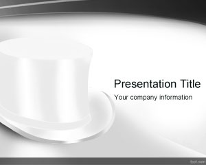 top white hat powerpoint template is a free ppt template for magic