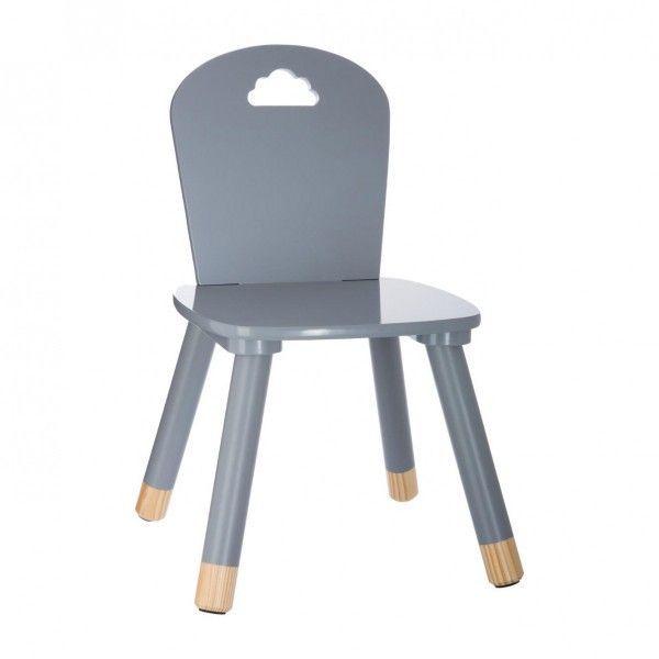 Chaise Douceur Grise Enfant Chaise En Bois Enfant Chaise Enfant Tabouret Enfant