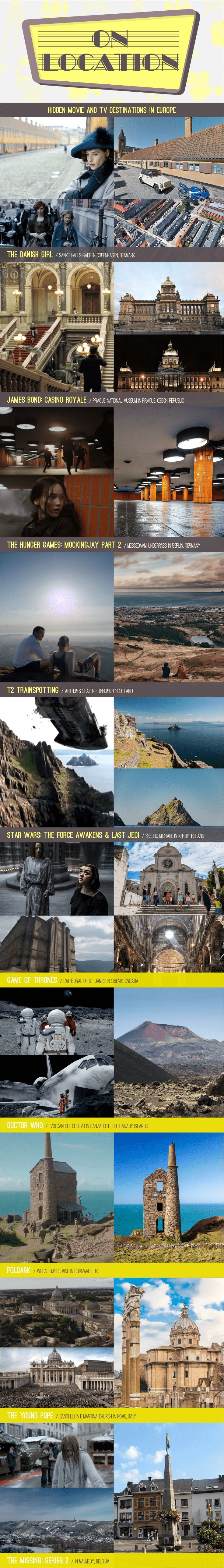 25 TV And Movie Shoot Locations In Europe Worth Visiting - Infographic