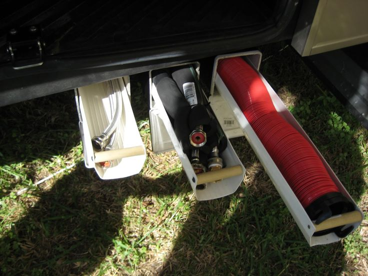 RV Mods: Sewer Hose Storage - Ideas and Examples