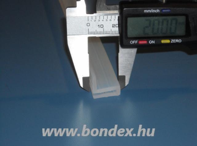 2 mm-es élre pattintható szilikon élvédő  L profil
