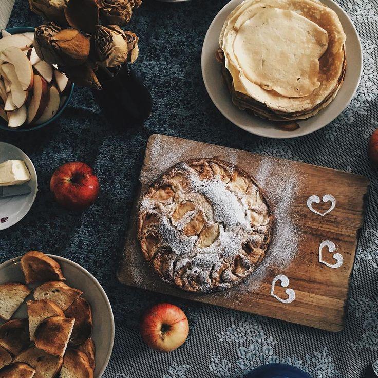 Доброе утро! Как прошел ваш Хэллоуин? В Ц - насыщенно. Легкий завтрак  . . . #breakfast #ziferblatnn #morning #food #foodporn #tasty #pie #apples #l4l #vsco #vscocam