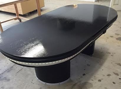 Custom Poker Table With Black Dining Top Board