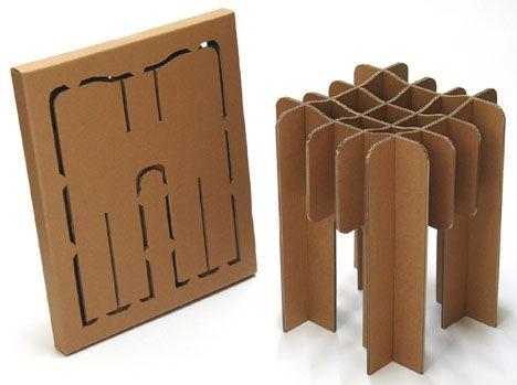 Tu blog de Diseño: La prima de la papiroflexia - Muebles de cartón